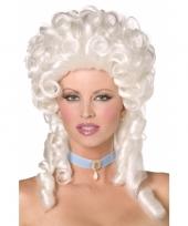Witte koninginnen pruik trend