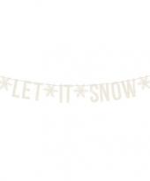 Witte let it snow diy kerst banner slinger 20 x 175 cm trend