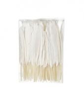 Witte sier veren 100 stuks13 cm trend