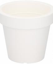 Witte sierpot 13 cm voor binnen of buiten trend