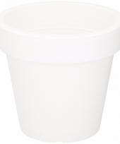 Witte sierpot 24 cm voor binnen of buiten trend