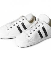 Witte sneaker sloffen katoen voor dames trend