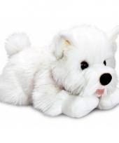 Witte terrier knuffel hondje 35 cm trend