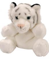 Witte tijger pluche handpoppen trend