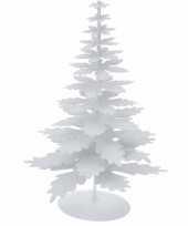 Witte versiering kerstboom glitter trend
