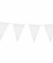 Witte vlaggentjes slinger 10 meter trend 10090462