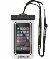 Witte zwarte waterproof hoes voor smartphone mobiele telefoon trend
