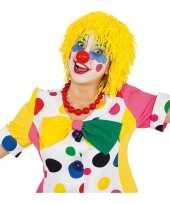 Wollen clown pruiken geel trend