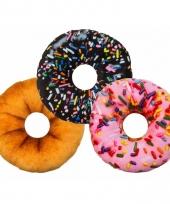 Woonaccessoire donut kussen roze 30 cm trend