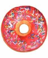 Woonaccessoire roze donut kussen 40 cm trend 10096757