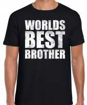 Worlds best brother cadeau t-shirt zwart voor heren trend