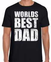 Worlds best dad cadeau t-shirt zwart voor heren trend
