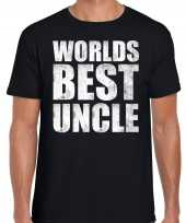 Worlds best uncle oom cadeau t-shirt zwart voor heren trend