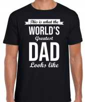 Worlds greatest dad cadeau t-shirt zwart voor heren trend