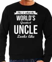 Worlds greatest uncle cadeau sweater zwart voor heren trend