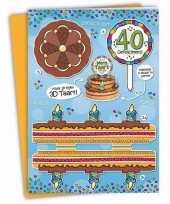Xxl 3d taart kaart 40 jaar trend