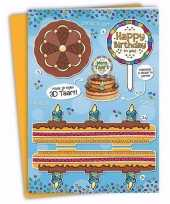 Xxl 3d taart kaart happy birthday to you trend