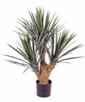 Yucca kunstplant 90 cm in pot voor binnen buiten trend