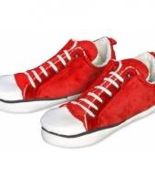 Zachte sneaker sloffen rood voor dames trend