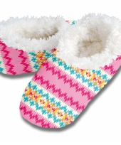 Zachte winter pantoffels zigzag print trend