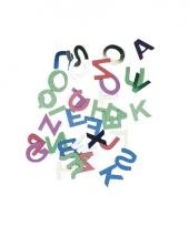 Zakje gekleurde letter pailletten trend