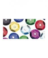 Zakje gekleurde pailletten 6 mm trend 10065669