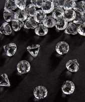 Zakje van 54 gram deco diamantjes transparant 12 mm trend