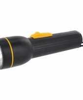 Zaklamp superbright zwart 19 cm trend