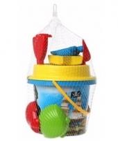 Zand speelgoed set blauwe piraten emmer trend