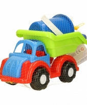 Zand speelwagen van plastic 28 x 14 x 20 cm trend