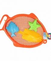 Zandbak speelsetje 4 delig oranje trend