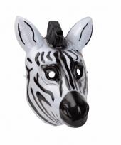 Zebra masker 3d plastic 22cm trend