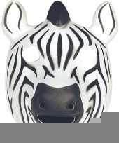 Zebra masker soft foam materiaal trend