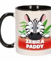 Zebra theebeker zwart wit zebra paddy 300 ml trend