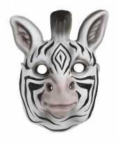 Zebra verkleed dierenmasker voor kinderen trend