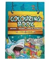 Zeedieren speelgoed artikelen kleurboeken tekenboeken a4 formaat trend