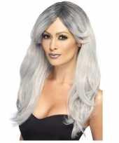 Zilver grijze pruik voor dames trend