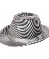 Zilver met zwart gestreepte hoeden trend