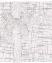 Zilver sieradendoosje cadeaudoosje 9 x 9 cm trend