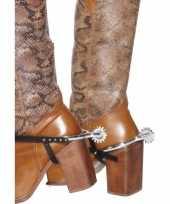 Zilveren cowboy sporen trend