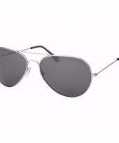 Zilveren dames piloten zonnebril model 0061 trend