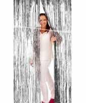 Zilveren deurgordijn van folie trend
