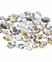 Zilveren diamanten stenen rond trend