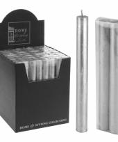 Zilveren dinerkaarsjes 22 cm trend