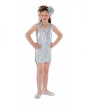 Zilveren glamour jurk voor meisjes trend