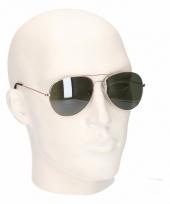 Zilveren heren piloten zonnebril model 0061 trend