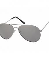 Zilveren kinder piloten zonnebril met lichte glazen trend