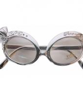 Zilveren nep diamanten bril trend