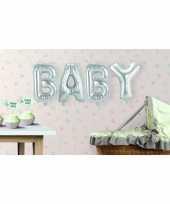 Zilveren opblaasletters baby trend