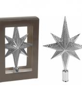 Zilveren piek ster vorm 25 cm trend